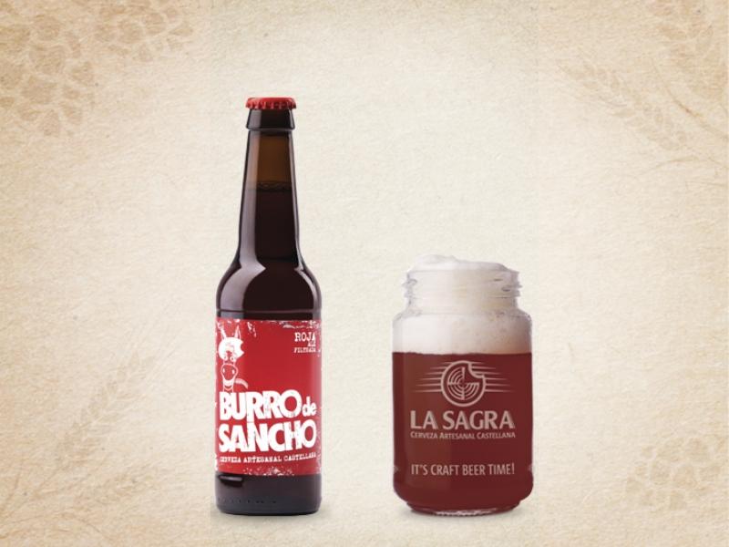Cerveza Burro de Sancho Roja