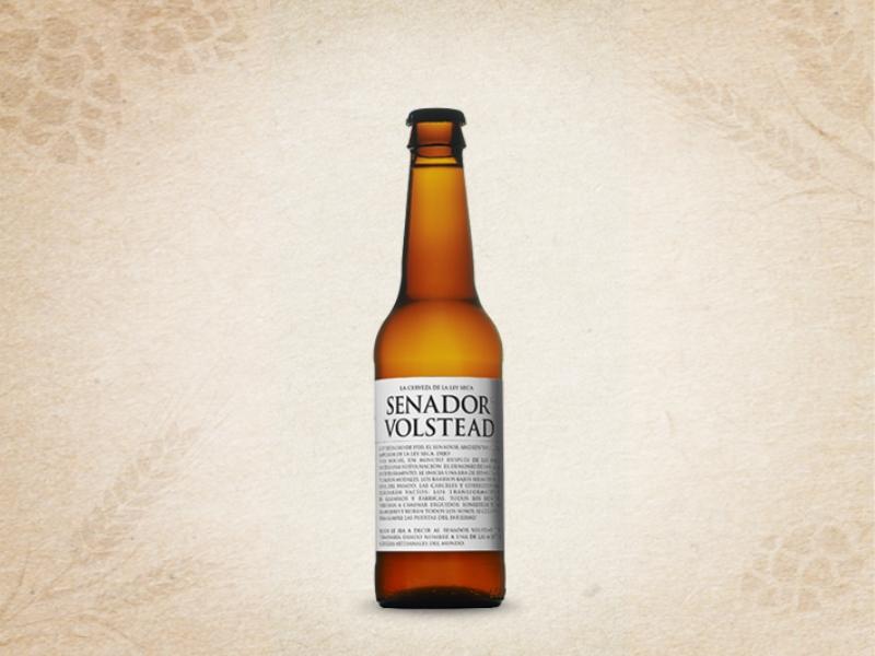 Cerveza Senador Volstead Etiqueta Blanca