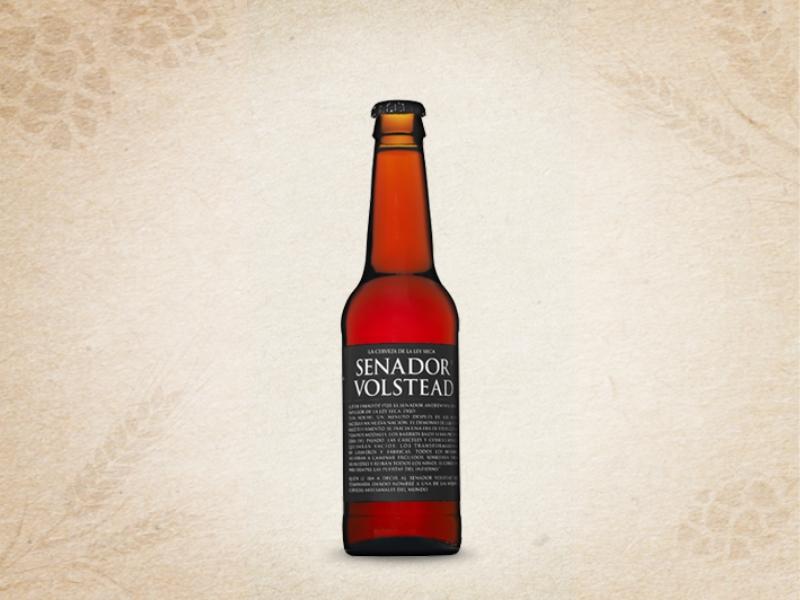 Cerveza Senador Volstead Etiqueta Negra