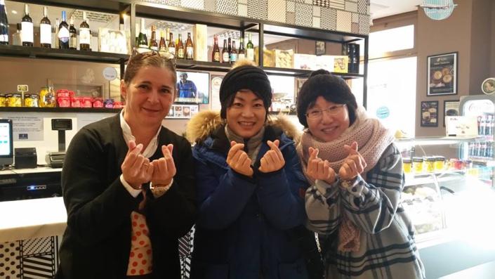 El símbolo de la amistad con amigas coreanas