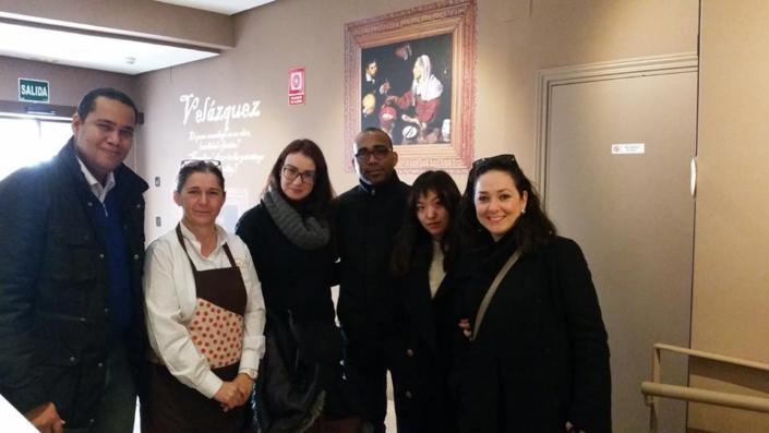 Con un grupo de amigos abogados de diferentes lugares